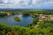 image of mauritius  - View from above at Grand bassin lake Mauritius - JPG