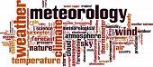 stock photo of barometer  - Meteorology word cloud concept - JPG