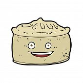 stock photo of pie-in-face  - cartoon pie with face - JPG