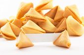 Chinese fortune cookies with white blank paper