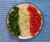 bandera italiana de alimentos