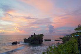 image of tanah  - Old hindu temple Pura Tanah Lot on the south coast of Bali - JPG