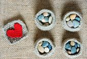 pic of knitting  - Handmade product from fibre hand made basket make from knit knitting heart leisure with art hobby lovely creatve - JPG
