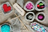Постер, плакат: Handmade Knit Knitting Art Hobby Lovely Creatve