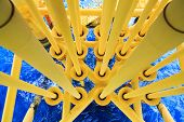 stock photo of offshore  - Oil and Gas Producing Slots at Offshore Platform - JPG