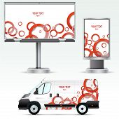 ������, ������: Template outdoor advertising or corporate identity on the car billboard and citylight
