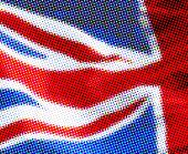Halftone effect UK flag