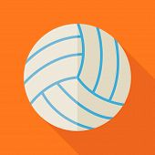 pic of physical education  - Flat Sports Ball Volleyball - JPG