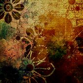 art grunge floral vintage background texture. To see similar, please VISIT MY PORTFOLIO.