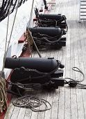 Canons On Old Warship