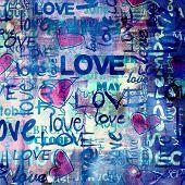 art vintage word love pattern background