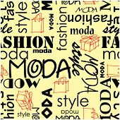 art vintage word pattern moda fashion background