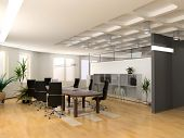 die moderne Office-Interior design (3d Render)