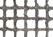 Cage abstract background (isolated).