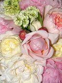 Close Up  Of A Wedding Bouquet