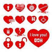 Conjunto de corações (ícone da alegoria).