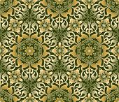 Arabic floral seamless ornate background. (See more seamless background in my portfolio).