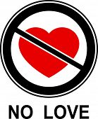 No love! (Allegorical icon).