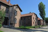 stock photo of auschwitz  - barracks in concentration camp Auschwitz in Oswiecim Poland - JPG