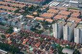Постер, плакат: Land And Property Business From Aerial View