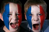 Young French Football/Rugby Fans