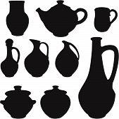 antique silhouette set ware