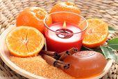aromatic tangerine bath - bath glycerine soap and fresh tangerines