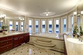Luxurious Master Bath Boasts Jetted Tub poster