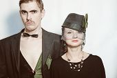 Постер, плакат: Young Couple Theater Actors