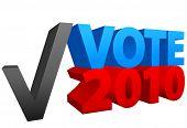 Geben Sie eine Stimme für rot oder blau im Jahr 2010 Off Wahl als ein Häkchen-Wahl.