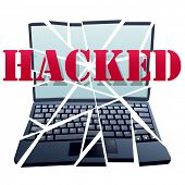 BREAK IN a hacker has hacked cracked and hijacked a computer to crash the laptop.