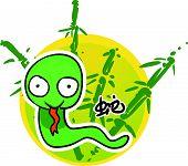 Cartoon Chinese Zodiac - Snake