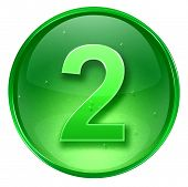 Number Two Icon. ( With Clipping Path )