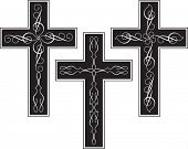 Vector Cross Design ornamental