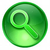 Search And Magnifier Icon. With Clipping Path