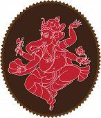 Ganesha (Elephant God) abstract background