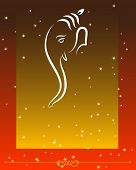 Ganesha (Elephant God) abstract background with space for text