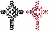 Vector Christian Cross Design abstract background