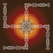 Swastica Holy motif Abstract Background