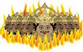 pic of ravan  - ravana burning in fire - JPG