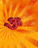 Grunge Aum (Om) the holy motif