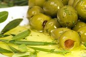picture of greek food  - prepared stuffed olives as it says the mediterranea diet - JPG