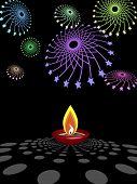 diwali Diya Fireworks