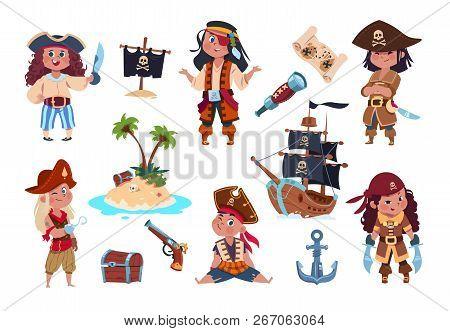 Pirate Characters Cartoon Kids Pirates