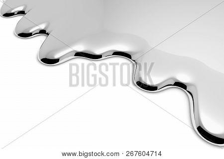 Melt Metal Liquid On White