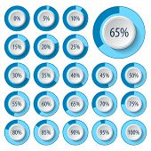 Vector Abstract 3d Paper Infographic Elements.business Infographics.pie Charts For Web Design.progre poster