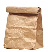 stock photo of bag-of-dog-food  - Paper bags on white background - JPG