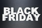 3d Illustration Black Friday, Sale Message For Shop. Business Shopping Store Banner For Black Friday poster