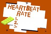 Writing Note Showing Heartbeat Rate. Business Photo Showcasing Measured By Number Of Times The Heart poster