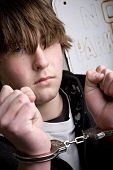 Teen In Handcuffs - Crime